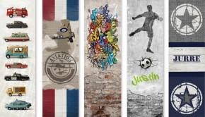muurstickers kinderkamer, kleefenzo, stoere muurstickers, jongenskamer, graffiti behang