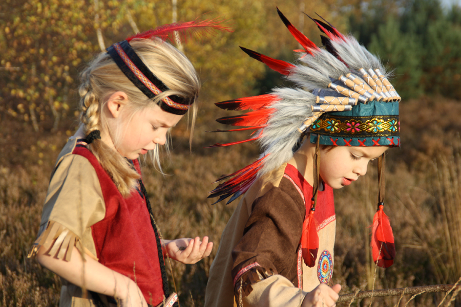 Souza verkleedkleding, indianenpak, verkleedkleding jongens, verkleedkleding indiaan