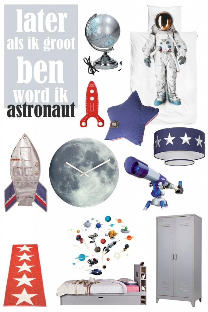 astronautenkamer  boyslabel, Meubels Ideeën