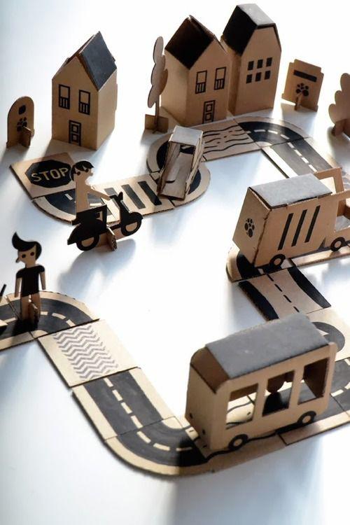 DIY speelgoed van karton, carboard DIY