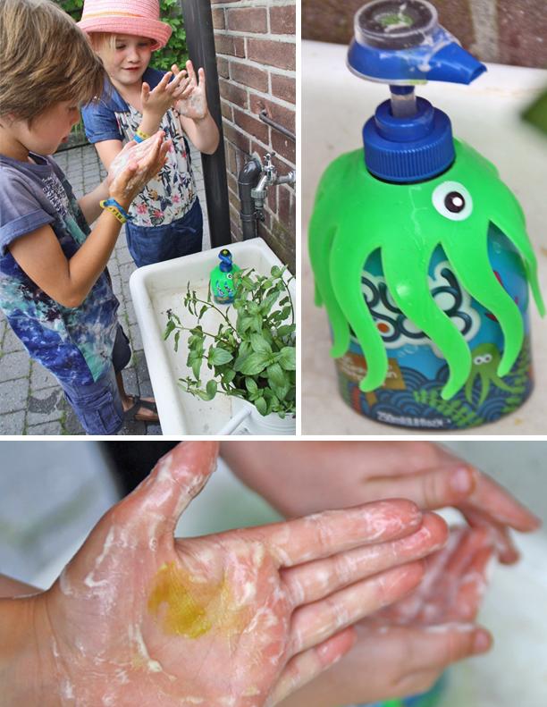Squid Soap, kinder handzeep, magische handzeep, goed handenwassen
