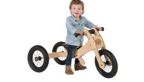 Tribike, houten loopfiets, wishbonebike, cadeau kind 1 jaar, cadeau jongen 1 jaar