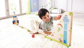 knikkerbaan, houten speelgoed, jongensspeelgoed, het leukste peuterspeelgoed