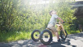 TRYBIKE, houten loopfiets, cadeau kind 1 jaar