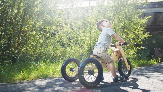 TRYBIKE, houten loopfiets, cadeau kind 1 jaar, cadeau kind 2 jaar, trybike loopfiets