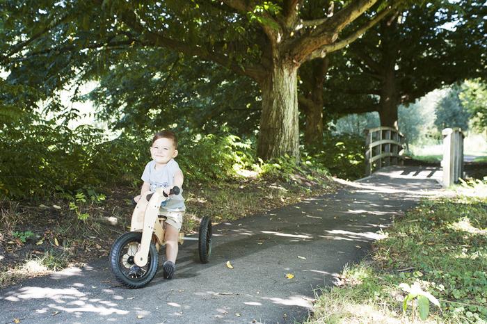 TRYBIKE, houten loopfiets, wishbone bike
