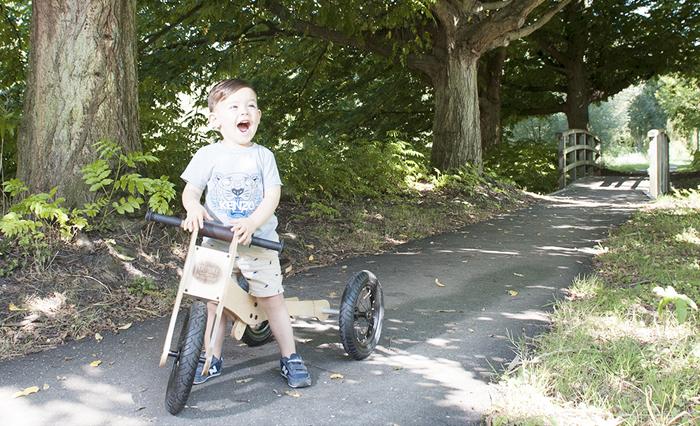 TRYBIKE, houten loopfiets, cadeau kind 1 jaar, cadeau kind 2 jaar, trybike loopfiets, loopfietsje