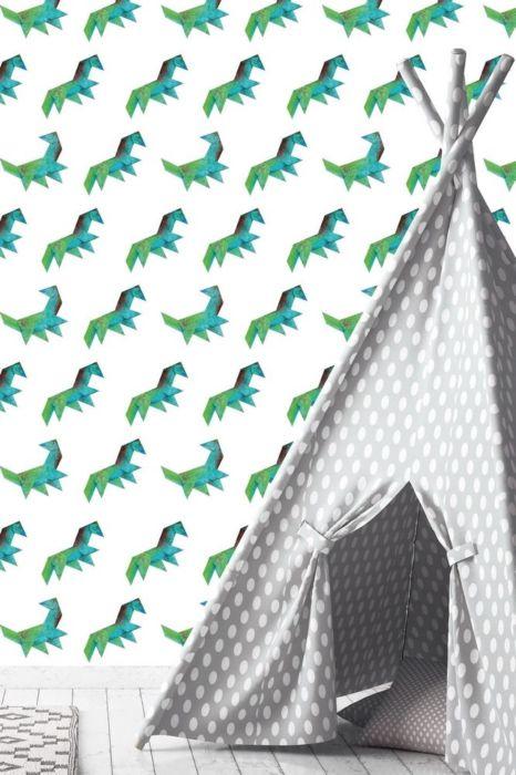 dinokamer, jongenskamer, kinderkamer, kinderkamer styling, dino behang, behang kinderkamer, dinosaurus behang