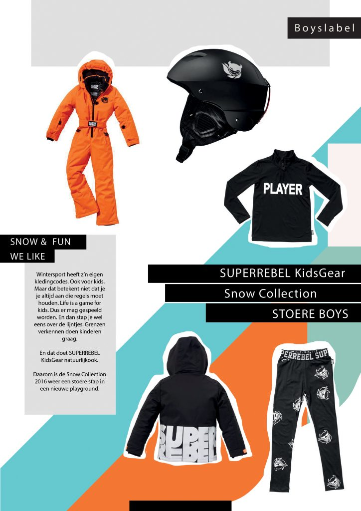 superrebel, kinder skikleding, wintersport kinderkleding