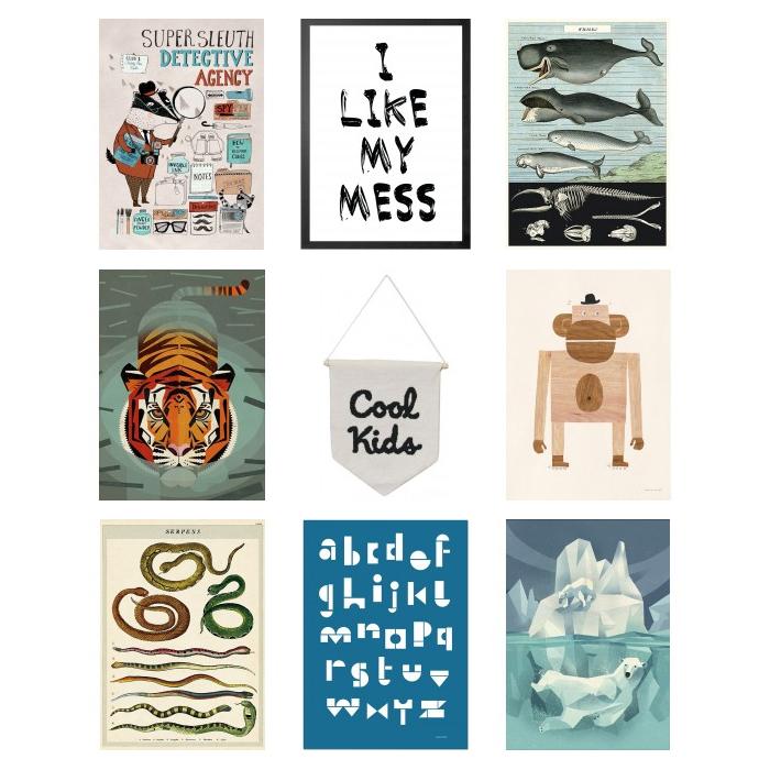 posters voor jongens, kinder posters