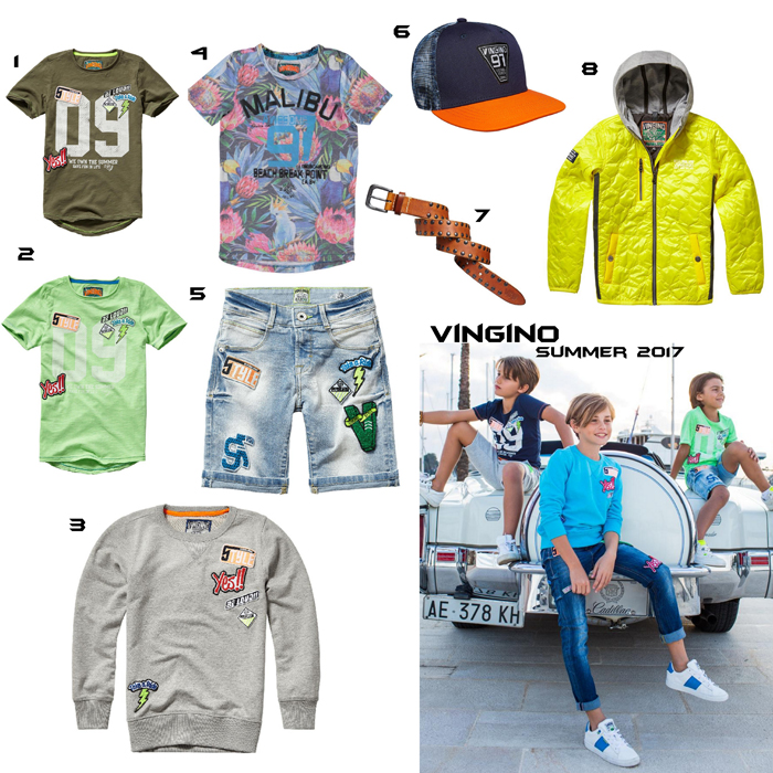 Vingino summer, vingino collectie, vingino kinderkleding