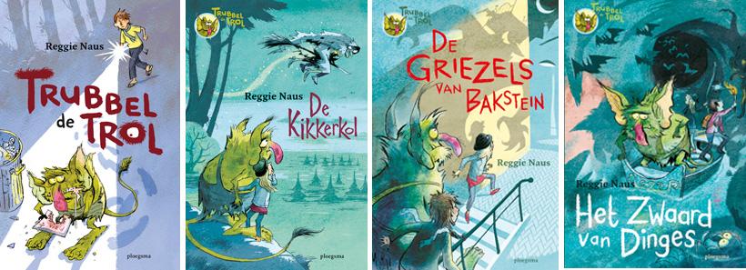 Regie Naus kinderboeken, jongensboeken seie , trubbel de trol, kinderboeken serie