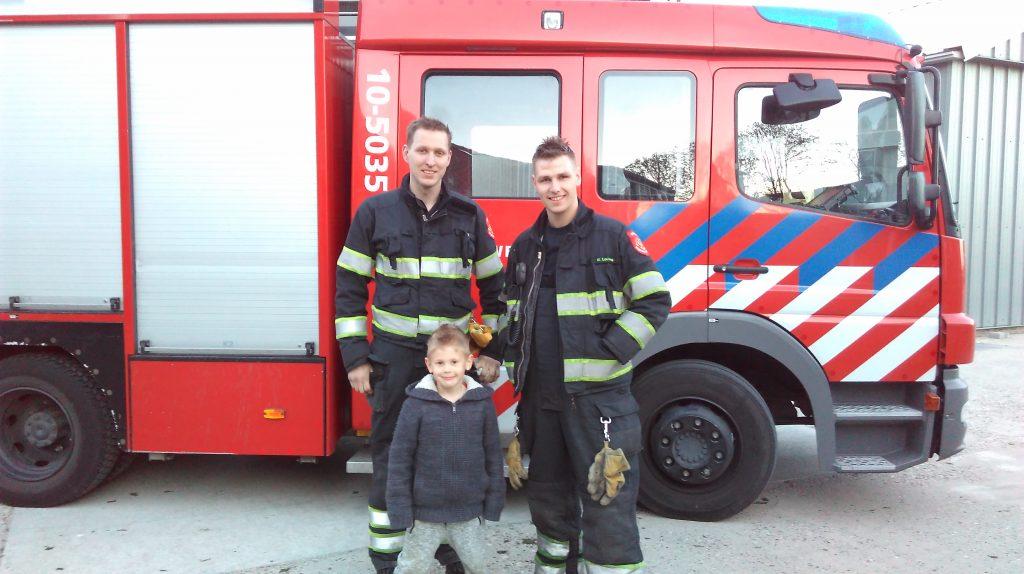 Brandweermannen oefening