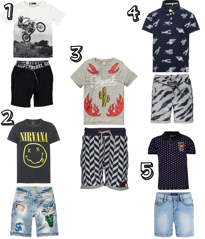 zomer outfits jongens, zomerkleding jongens