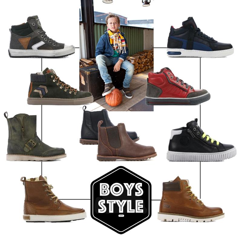 Van den Assem, jongensschoenen, schoenencollage