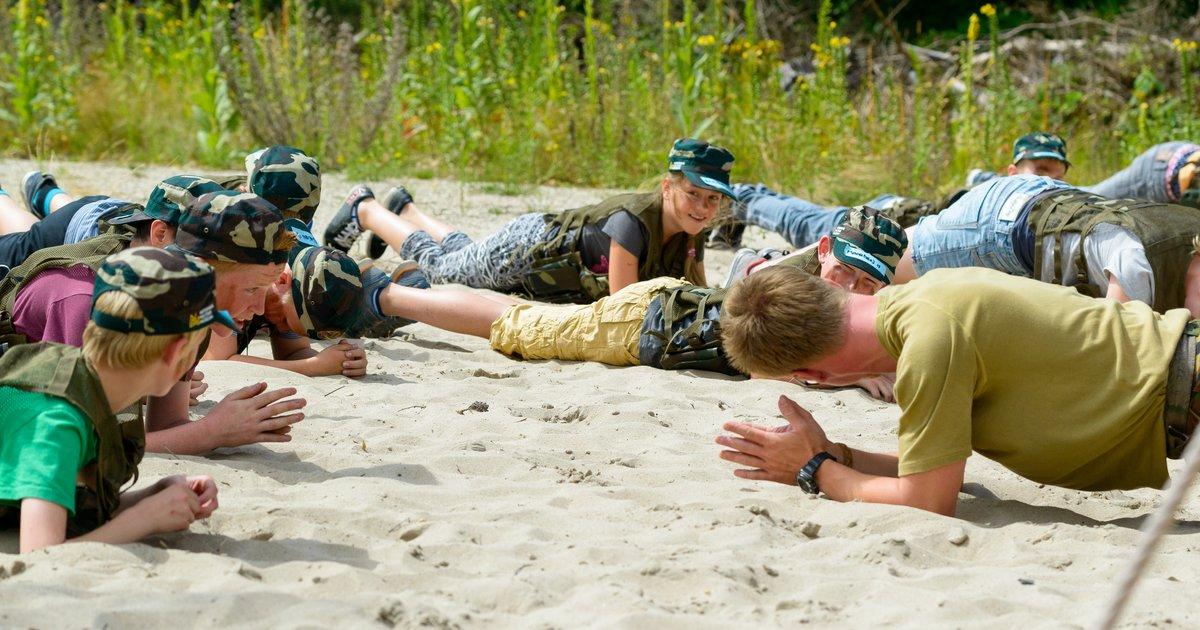 kinder bootcamp, survival kamp voor kinderen, zomervakantie