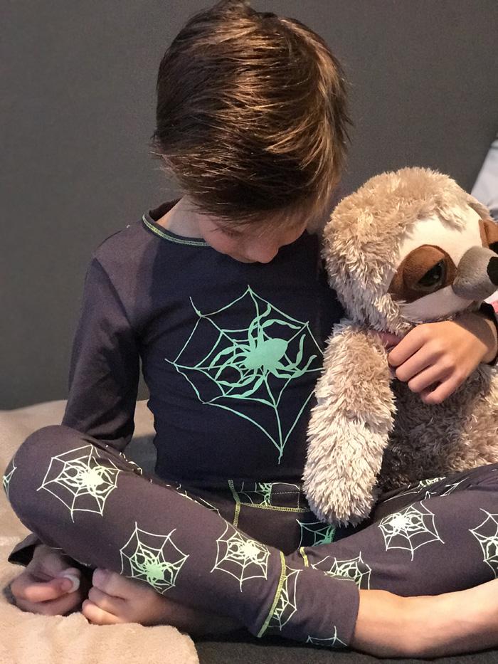 claesens pyjama, spiderman, spinnen pyjama
