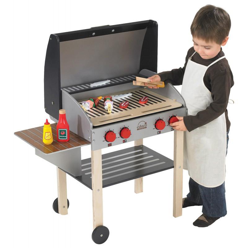 houten barbeque, speelgoed, jongenscadeau