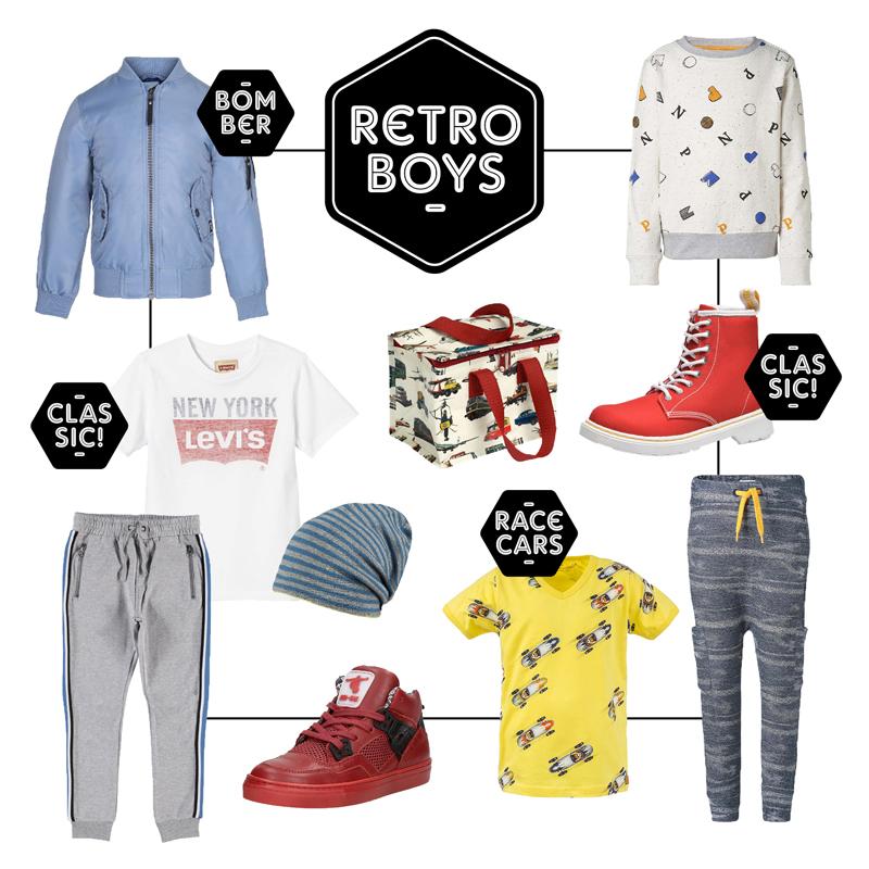 get the look jongens, retro kinderkleding, levis