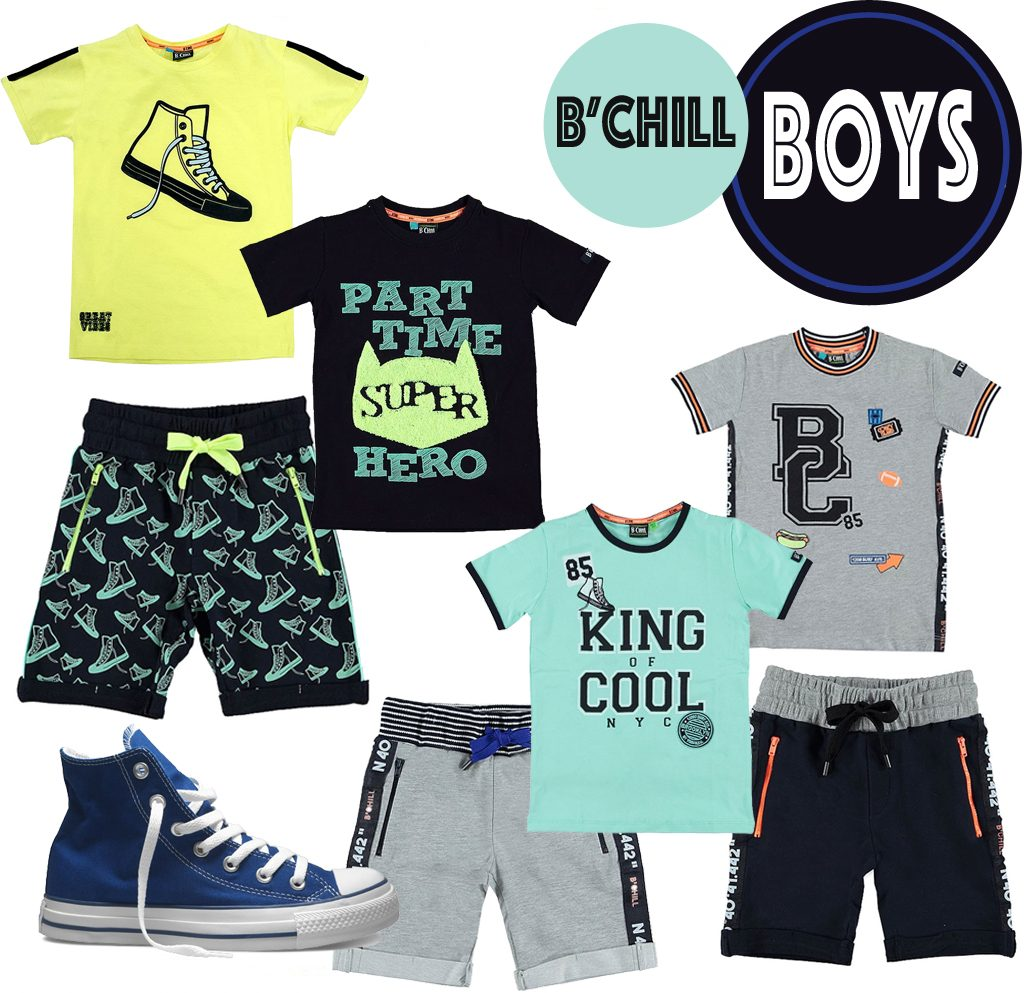 B'CHILL, jongenskledingmerk, zomerkleding jongens, kinderkleding zomer 2018