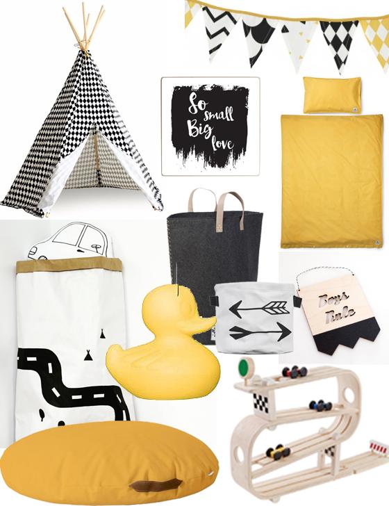 Accessoires Voor Jongenskamer.Jongens Slaapkamer Met Zwart Wit En Een Vleugje Geel Boyslabel