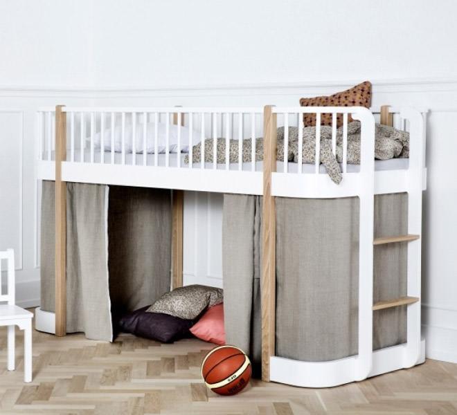 Oliver funiture, loft bed. meegroei kinderbed, jongensbed