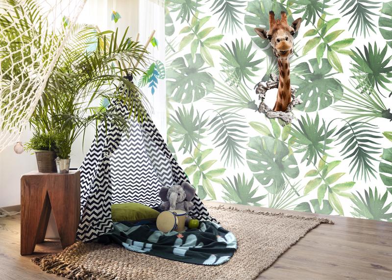 jungle behang, kinderbehang