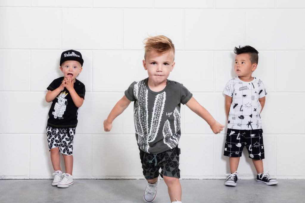 lucky no 7, zwart wit kinderkleding, zwart wit babykleding, stoere jongenskleding