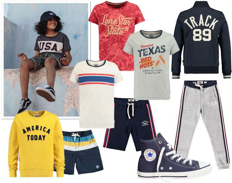 America Today, vintage look, jongenskleding