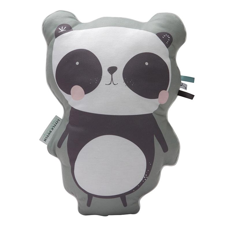 little-dutch-knuffelkussen-Panda, sierkkussens kinderkamer, kussens kinderkamer