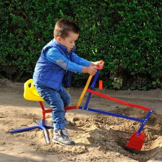 zand speelgoed, graafmachine, zandbak graafmachine