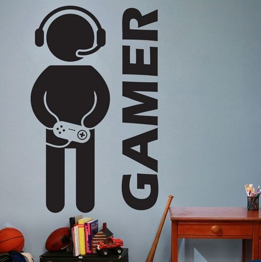 game muurstickers, game kamer, muursticker jongenskamer