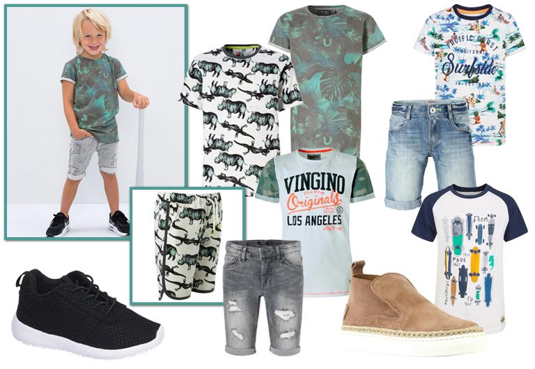 kinderkleding zomer 2018, zomer outfits jongens, jongenskleding zome 2018