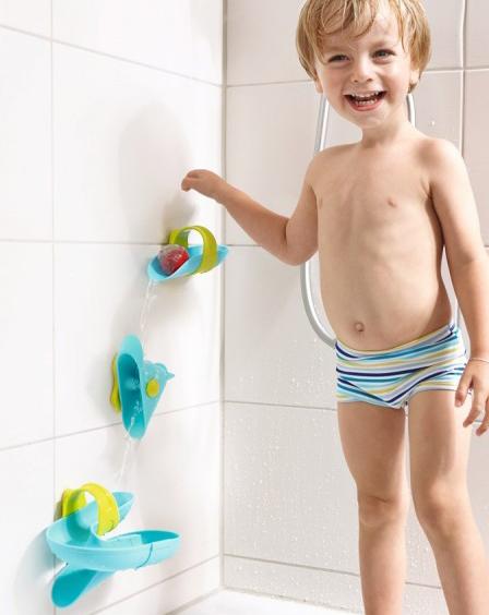 water speelgoed, badspeelgoed, knikkerbaan-badplezier