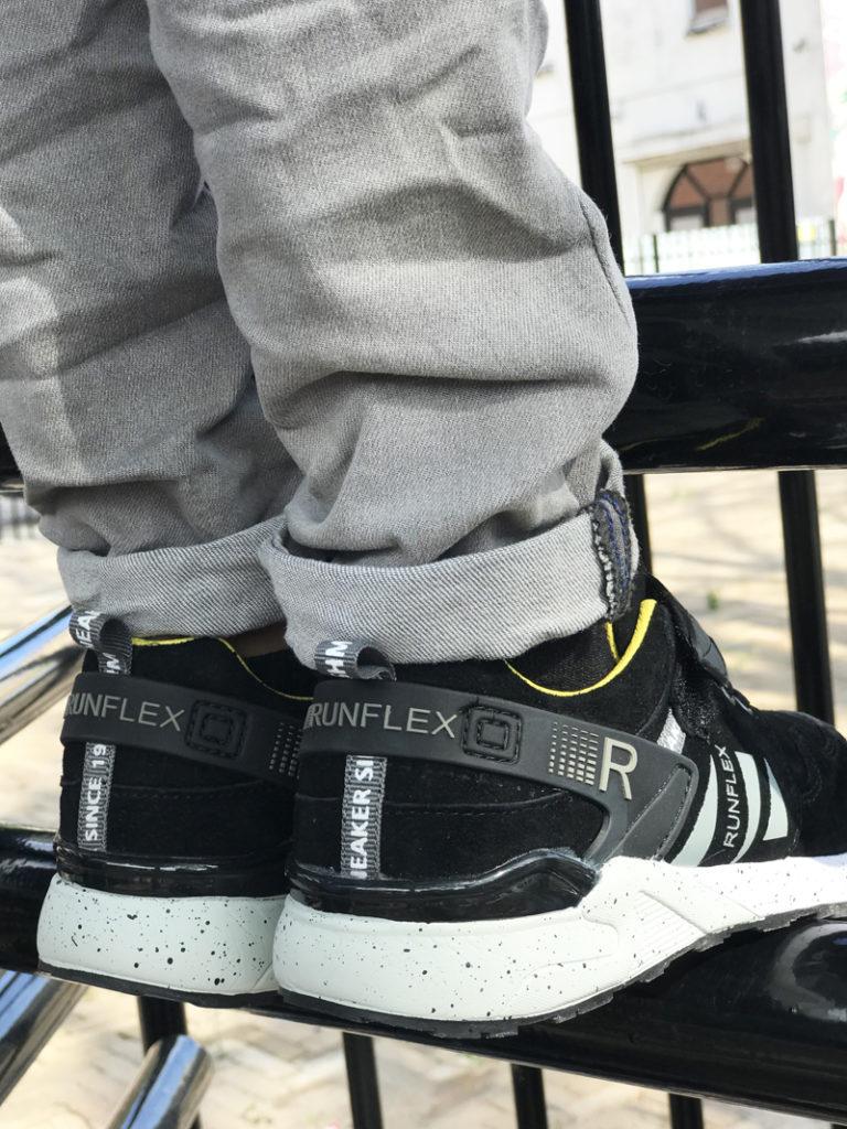 stoere jongens sneakers, shoesme sneakers, zwart met gele sneakers