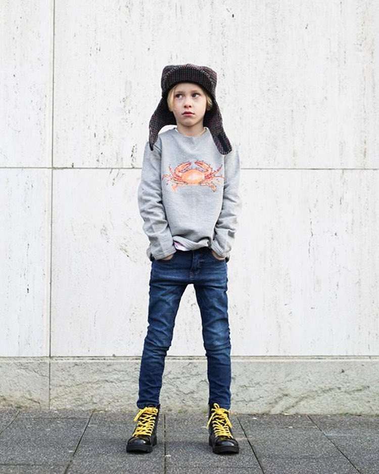 the harbour kids, crab trui, krabben sweater