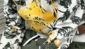 SKURK, stoere jongens sweater, bladprint