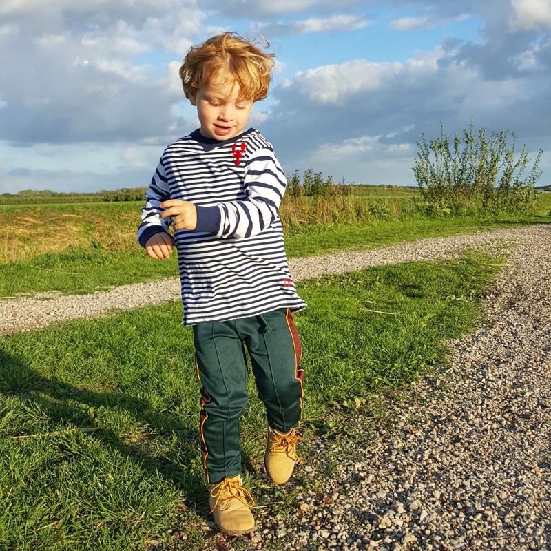 gestreepte longsleeve, jongens trui, longsleeve jongen, bretonse streep