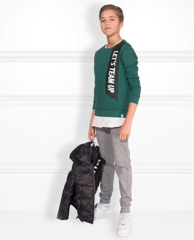nik and nik, niknik, nik nik winter 2018, groene sweater jongen