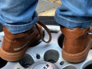 Shoesme winter sneakers, cognackleurige schoenen, sneakers jongens, rubberen neus, bruine sneakers
