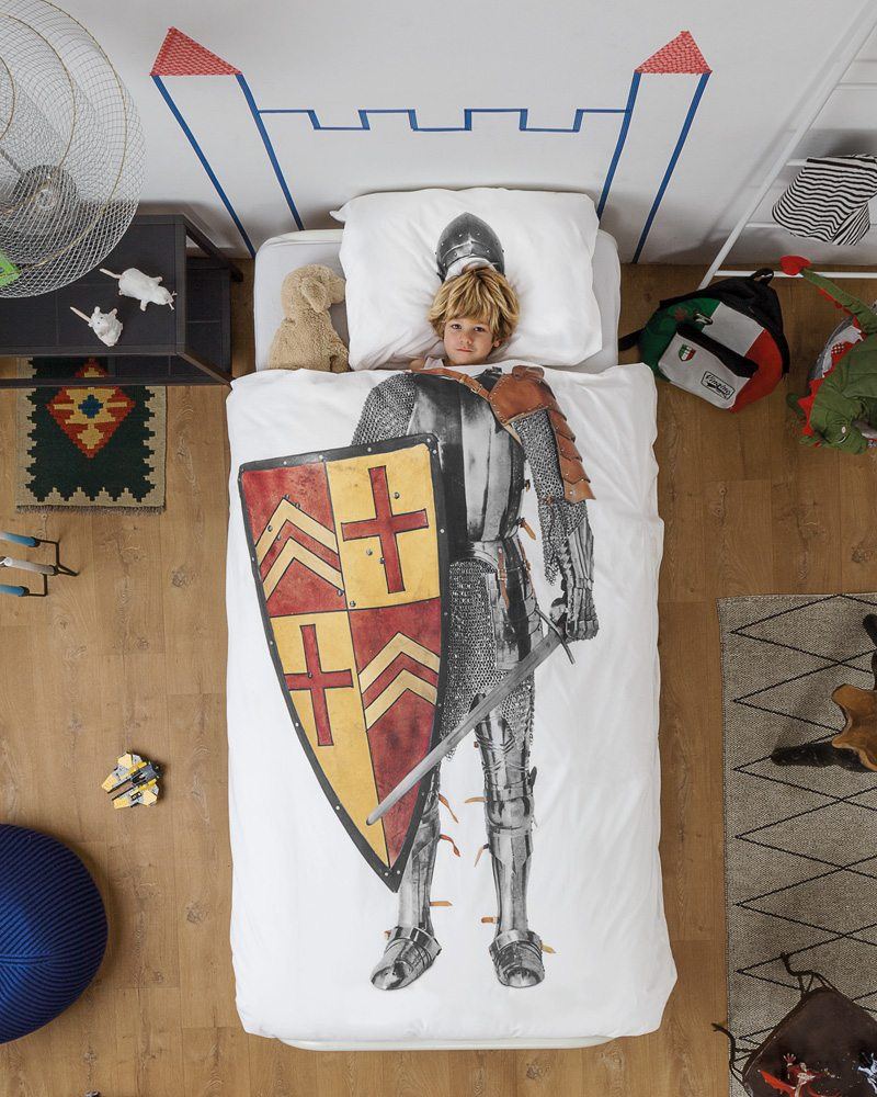 ridder speelgoed, snurk beddengoed, ridder dekbed overtrek