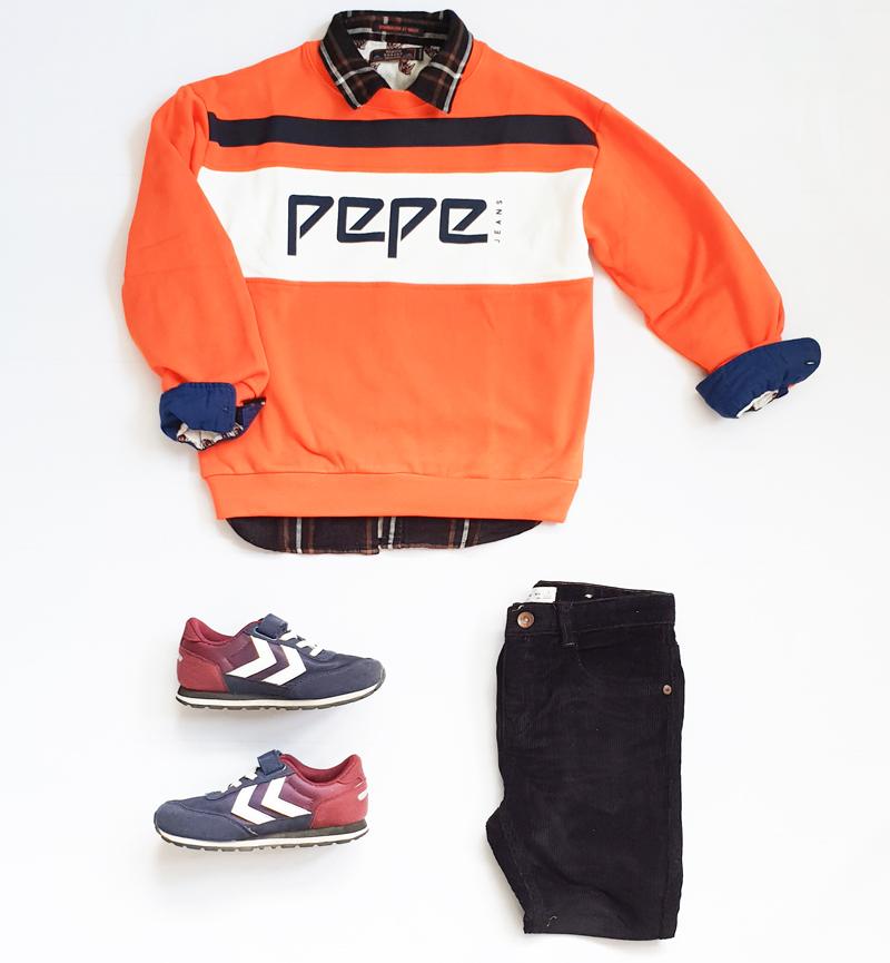 boys outfit, jongenskleding set, pepe jeans, kindermodeblog, boyslabel, jongens sweater
