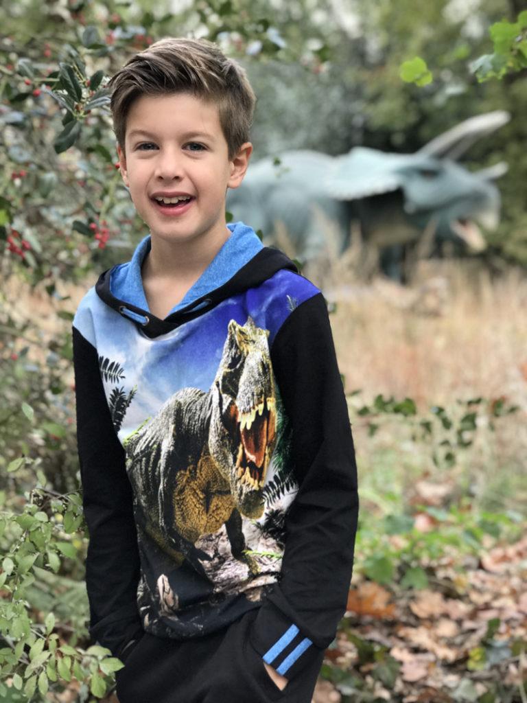 dino sweater, losopende dino's, dino trui, boyslabel, kinderkleding review, kindermodeblog