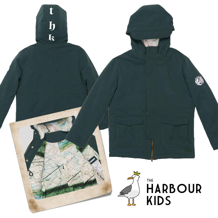 the harbour kids jas, winterjas kind, stone island kinderjas
