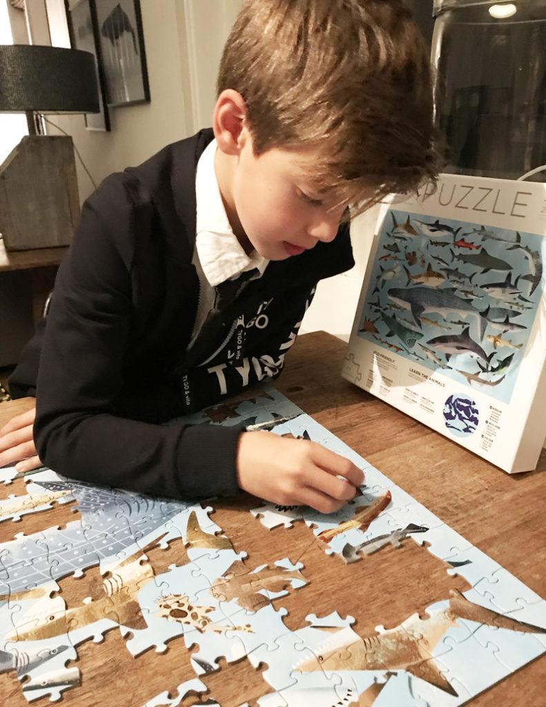puzzel, haaien puzzel, kinderpuzzel 300 stukjes