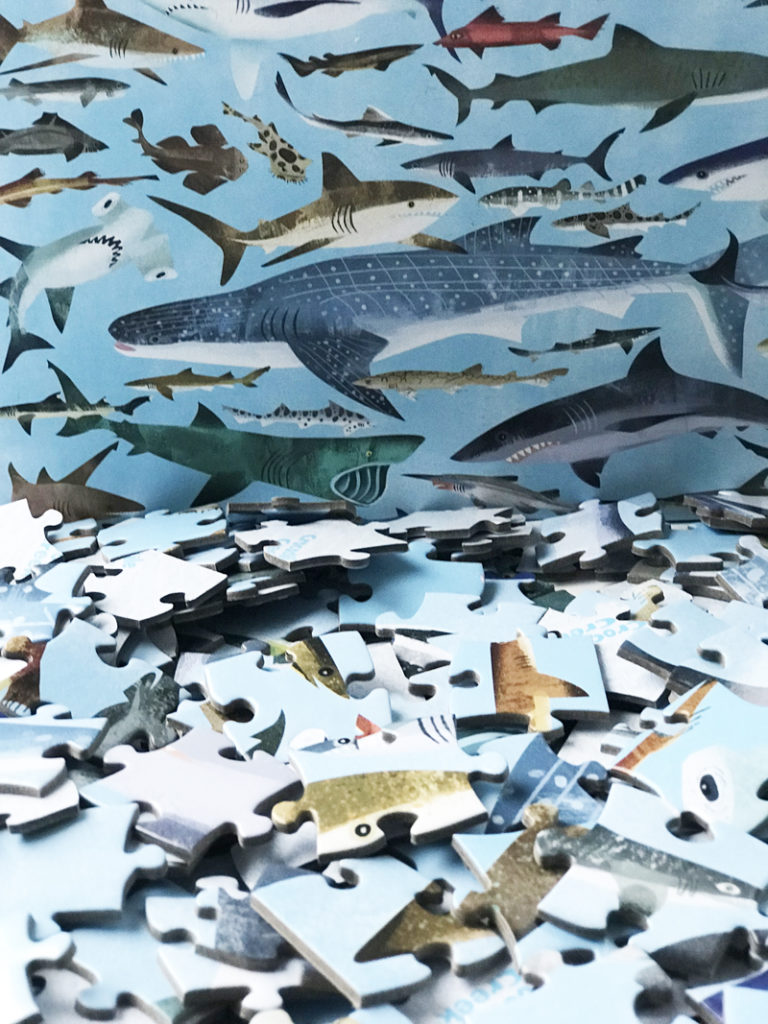 crocodile creek puzzel, haaien puzzel, kinderpuzzels