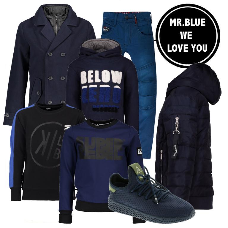 donkerblauwe kleding, jongenskleding sale, winterjassen korting