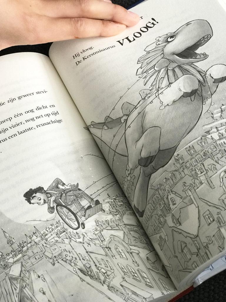 De kerstmisaurus, kerstboek, kerstverhaal, kinderboek, kerstwinactie, dinosaurusboek