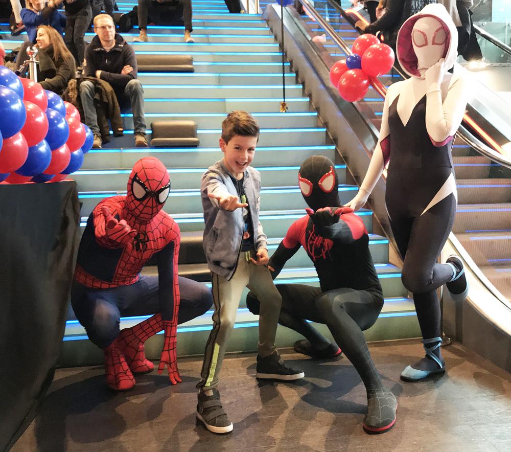 Première nieuwe Spiderman film, boyslabel