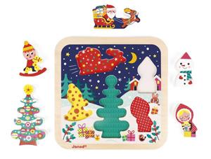houten kerst puzzel, leuke kerstcadeautjes